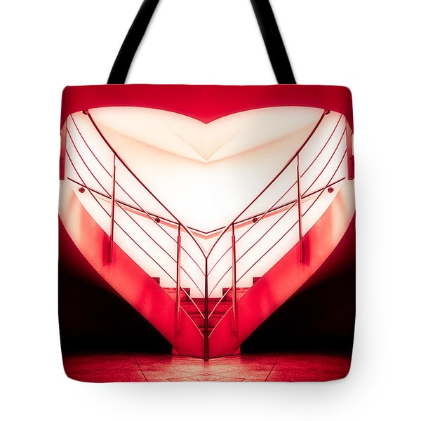 architecture's valentine - redI Tote Bag by Hannes Cmarits