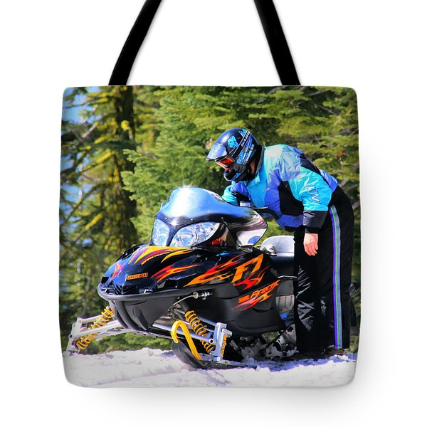 Arctic Cat Snowmobile Tote Bag
