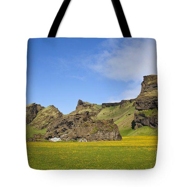 Arctic Meadow Tote Bag