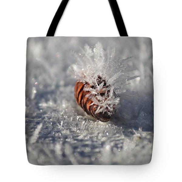 Arctic Pine Cone Porcupine Tote Bag by Brian Boyle
