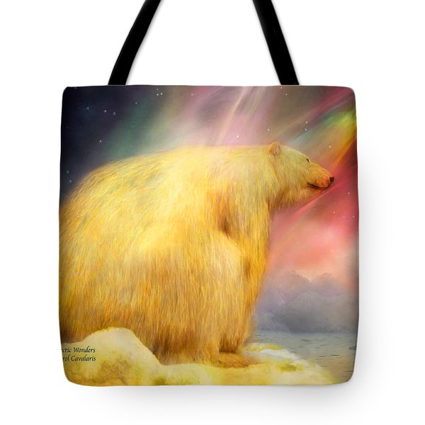 Arctic Wonders Tote Bag by Carol Cavalaris