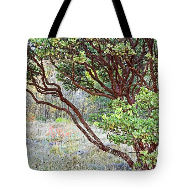 Tote Bag featuring the photograph Arctostaphylos Hybrid by Kate Brown