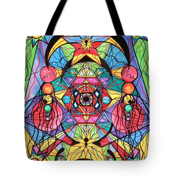 Arcturian Ascension Grid Tote Bag