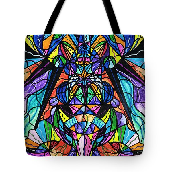Arcturian Awakening Grid Tote Bag