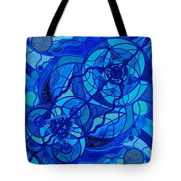 Arcturian Calming Grid Tote Bag