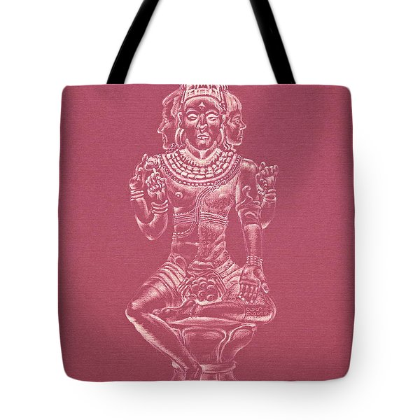 Tote Bag featuring the drawing Ardhanarishvara II by Michele Myers