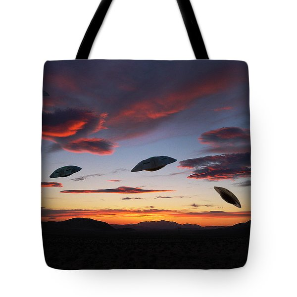 Area 51 Fly Zone Tote Bag