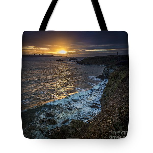 Ares Estuary Mouth Galicia Spain Tote Bag