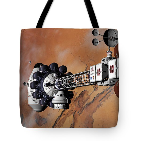 Ares1 Captured Over Valles Marineris Tote Bag