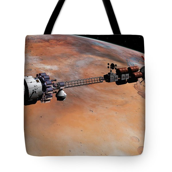 Tote Bag featuring the digital art Ares1 Release by David Robinson