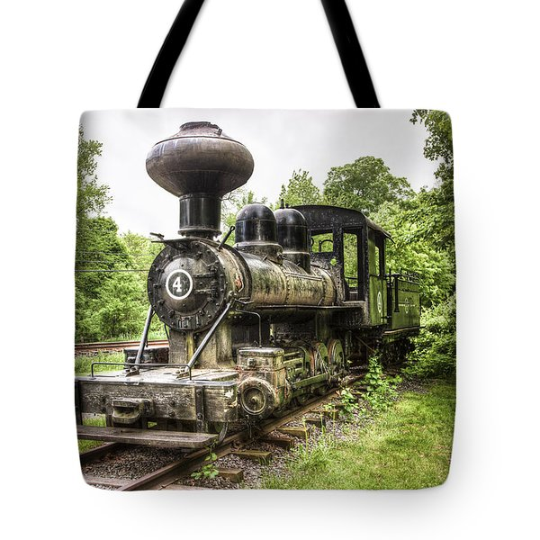 Tote Bag featuring the photograph Argent Lumber Company Engine No. 4 - Antique Steam Locomotive by Gary Heller