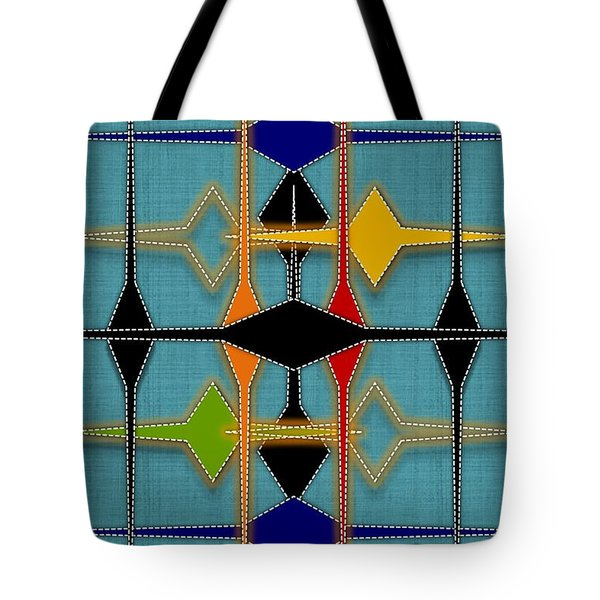 Argyle Re-make Tote Bag by Darla Wood