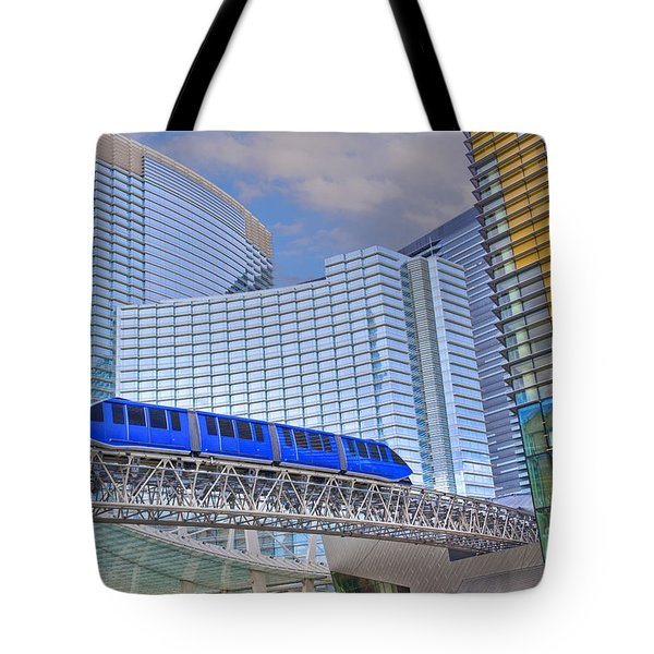 Aria Las Vegas Nevada Hotel And Casino Tram  Tote Bag