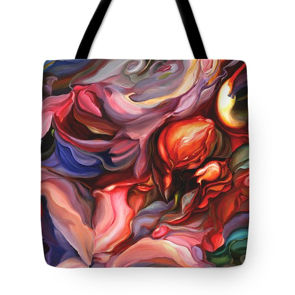 Tote Bag featuring the painting Aria - Acrylic On Canvas by Brooks Garten Hauschild