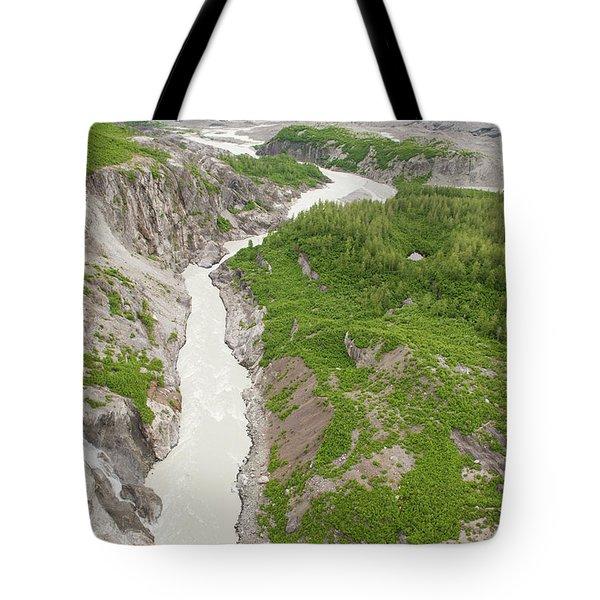 Arial View Of Turnback Canyon, Alsek Tote Bag