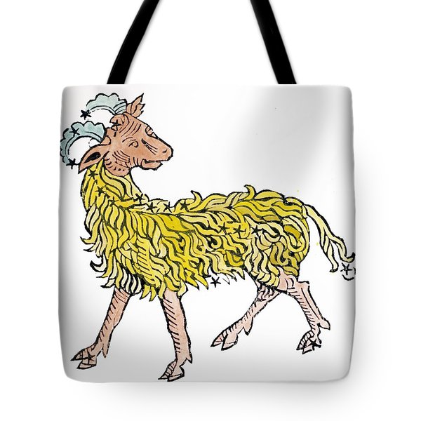 Aries An Illustration From The Poeticon Tote Bag by Italian School