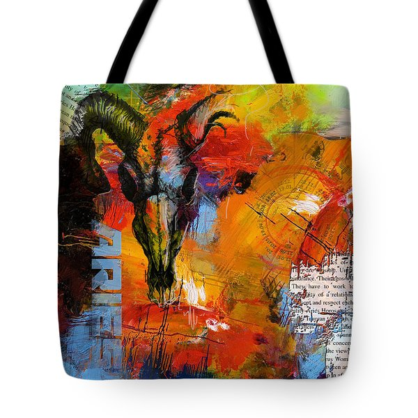 Aries Horoscope Tote Bag by Corporate Art Task Force