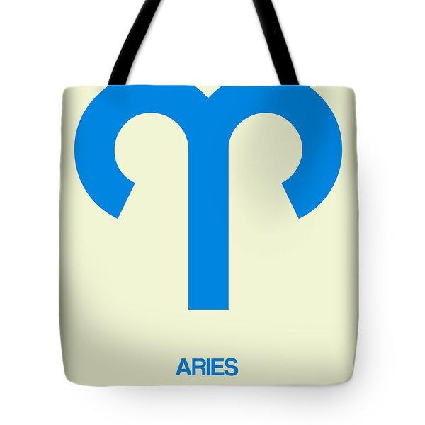 Aries Zodiac Sign Blue Tote Bag