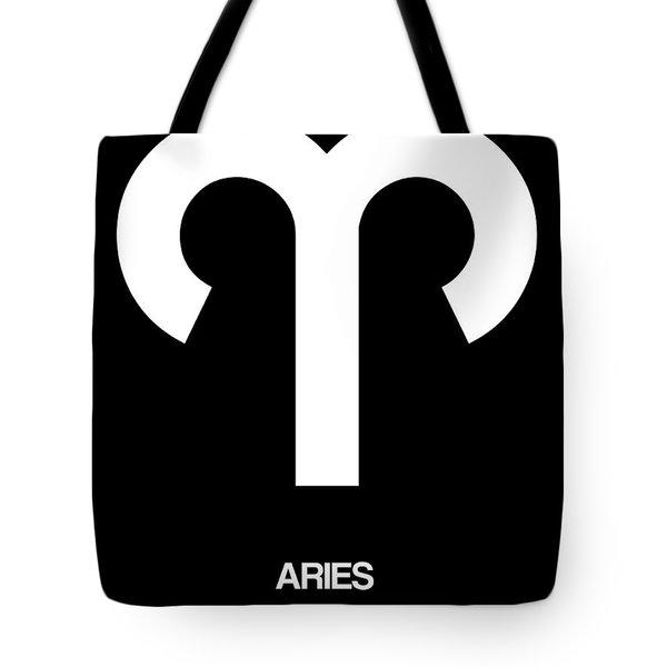 Aries Zodiac Sign White Tote Bag