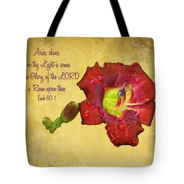 Arise Shine Tote Bag