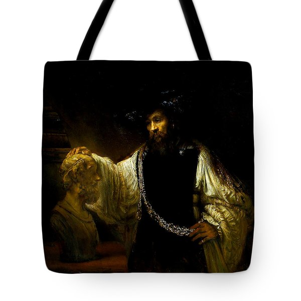 Aristotle Contemplating A Bust Of Homer Tote Bag