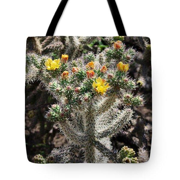 Arizona Cactus Tote Bag by Suzanne Lorenz