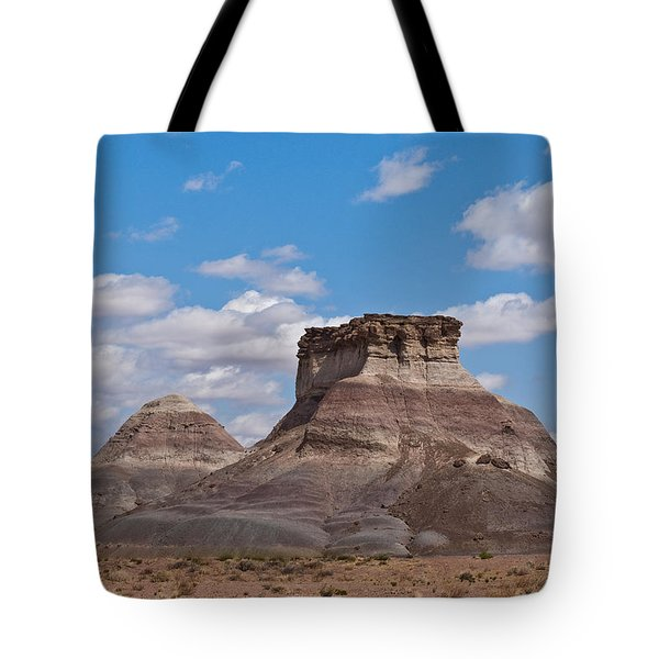 Tote Bag featuring the photograph Arizona Desert And Mesa by Jeff Goulden
