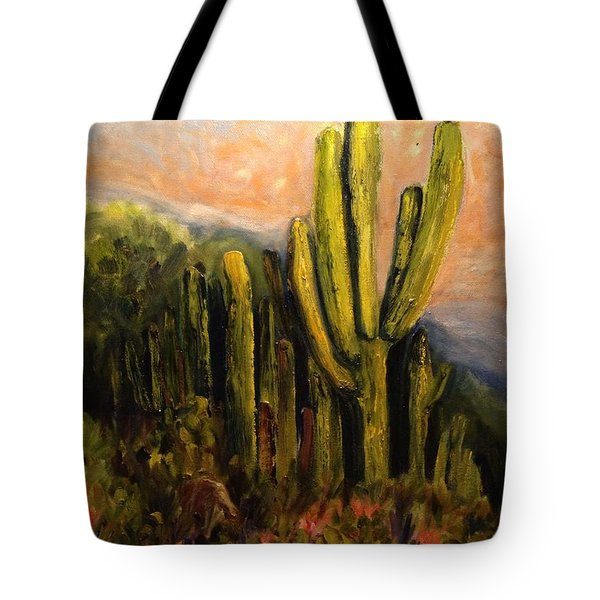 Arizona Desert Blooms Tote Bag