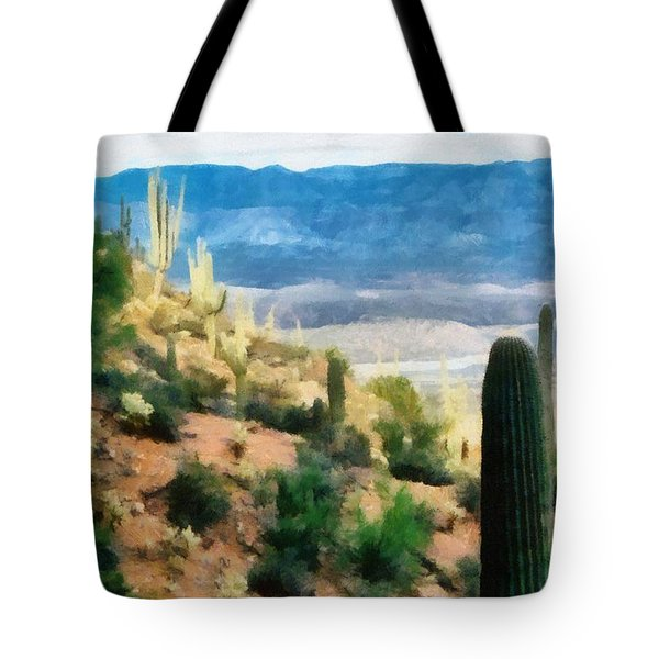 Arizona Desert Heights Tote Bag by Michelle Calkins
