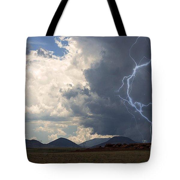 Arizona Desert Lightning  Tote Bag