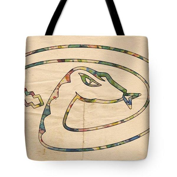 Arizona Diamondbacks Logo Vintage Tote Bag by Florian Rodarte
