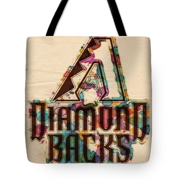 Arizona Diamondbacks Poster Vintage Tote Bag by Florian Rodarte