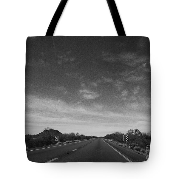 Arizona Highway 70 West Tote Bag by Methune Hively