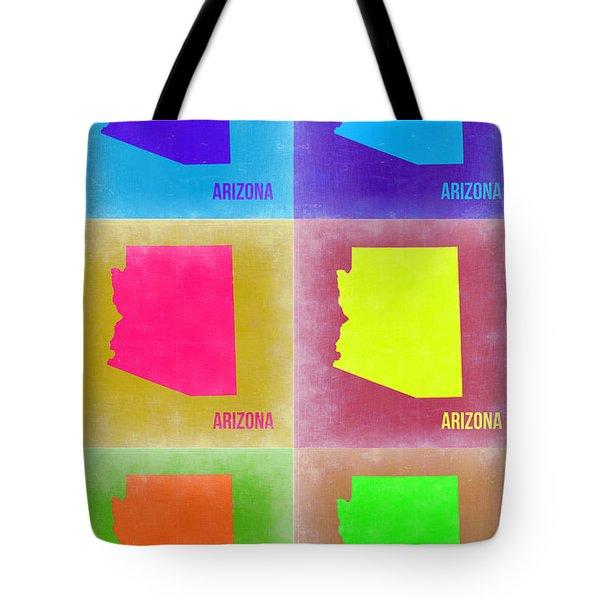 Arizona Pop Art Map 4 Tote Bag by Naxart Studio