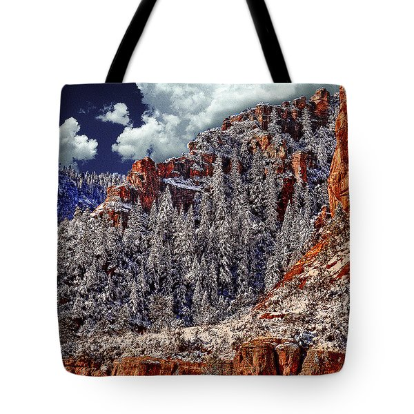 Arizona Secret Mountain Wilderness In Winter Tote Bag
