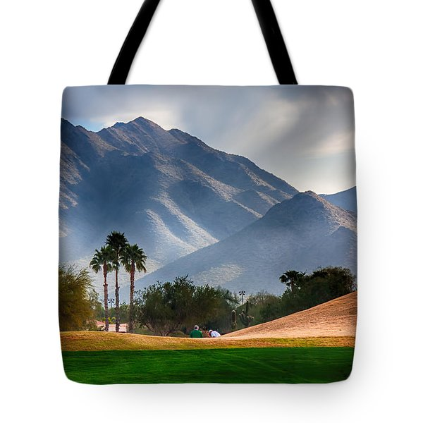 Arizona Sunrise Golfing Tote Bag