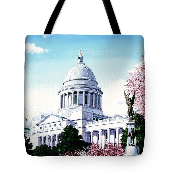 Arkansas Capitol Blossoms Tote Bag