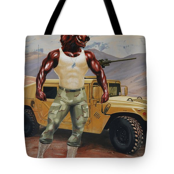 Arkansas Soldier Tote Bag