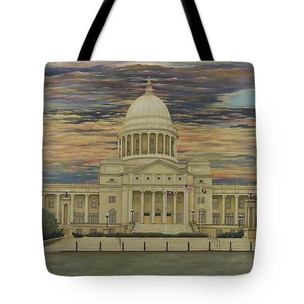 Arkansas State Capitol Tote Bag
