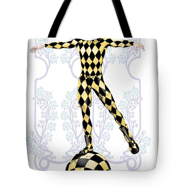 Harlequin Tightrope Tote Bag