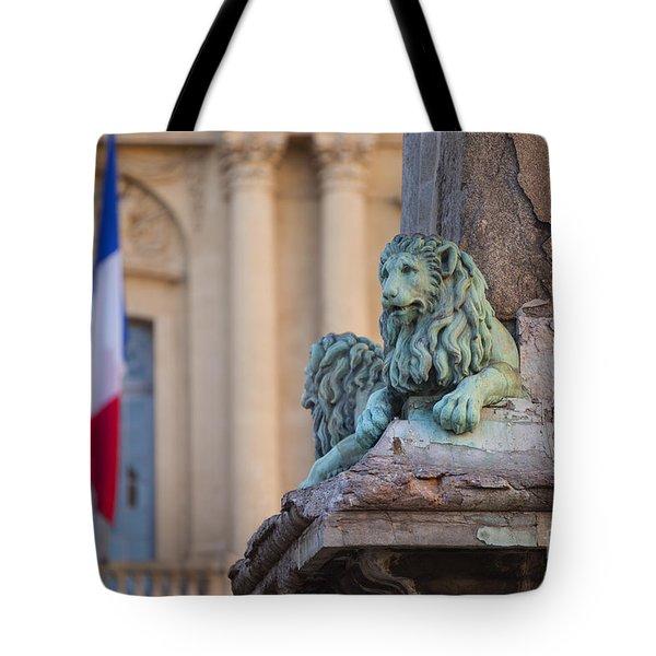 Arles Place De La Republique Tote Bag by Brian Jannsen