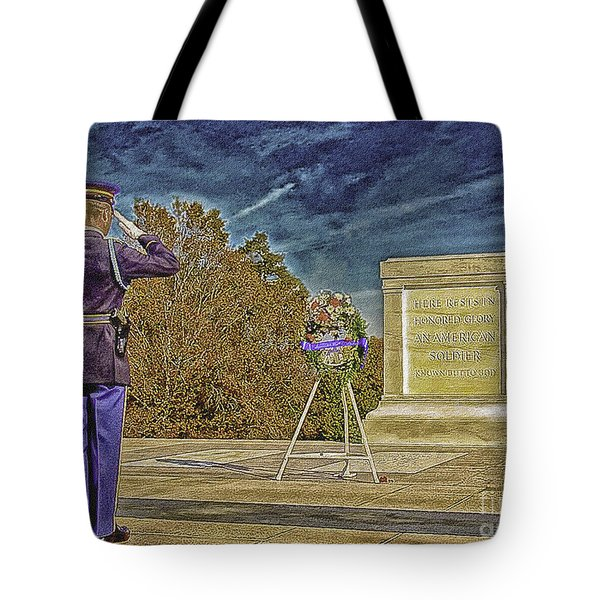 Arlington Cemetery Tomb Of The Unknowns Tote Bag