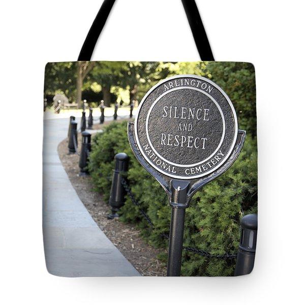 Arlington National Cemetery Rule Tote Bag