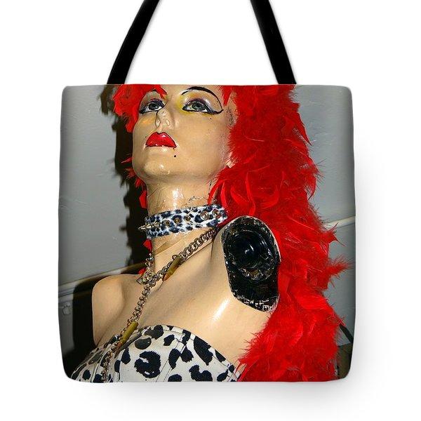 Armless Redhead Tote Bag by Ed Weidman