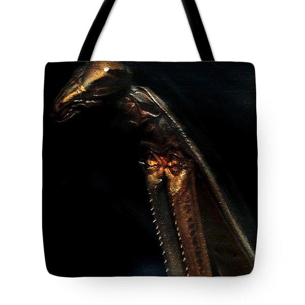 Armored Praying Mantis Tote Bag