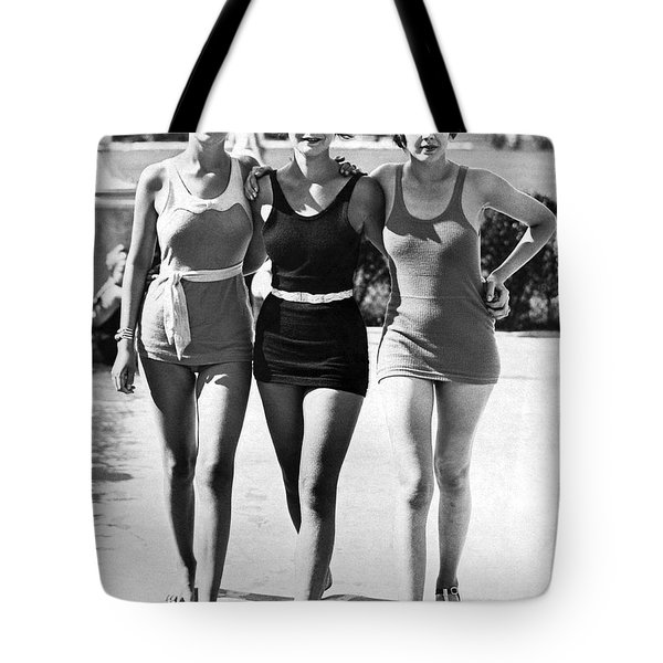 Army Bathing Suit Trio Tote Bag by Underwood Archives