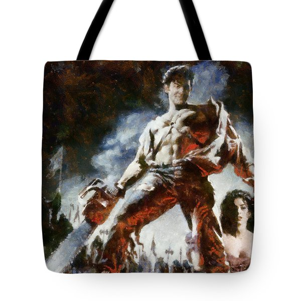 Tote Bag featuring the painting Army Of Darkness by Joe Misrasi
