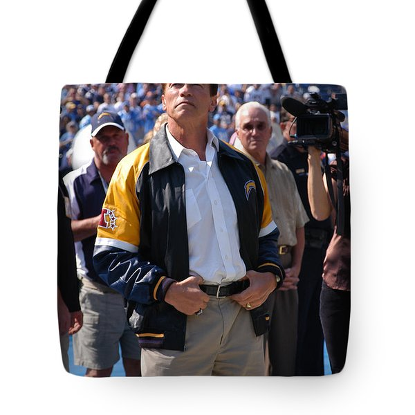 Arnold Schwarzenegger  Tote Bag by Mountain Dreams