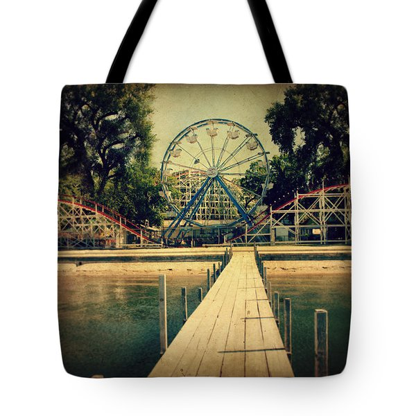 Arnolds Park Tote Bag by Julie Hamilton