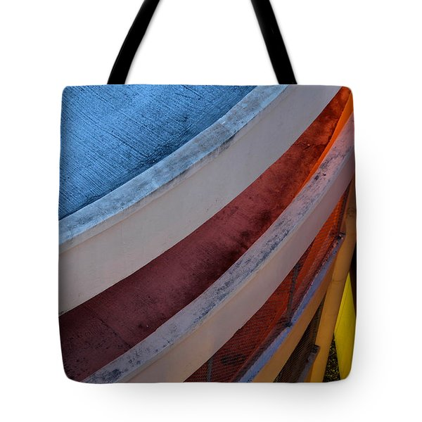 Around And Down Tote Bag